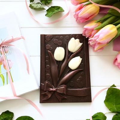 Сладкие тюльпаны в подарок женщине