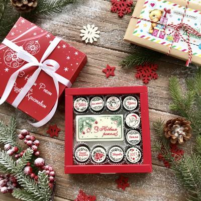 Новогодний подарок из шоколада