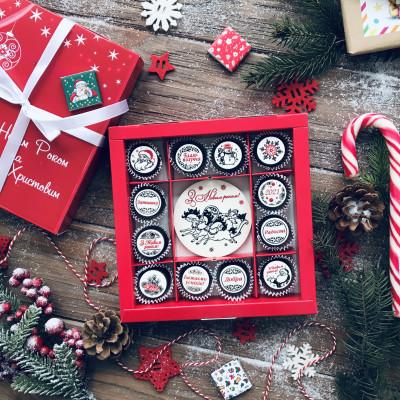 Новогодние подарки из шоколада. Праздничный набор конфеток