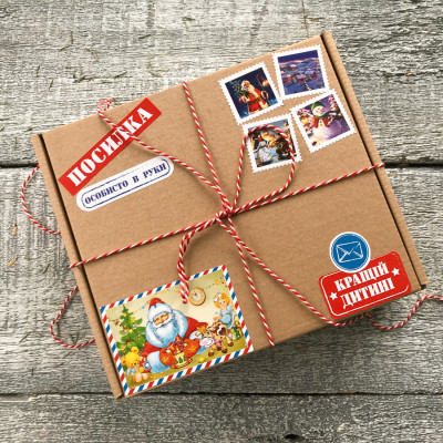 Подарок из сладостей от Деда Мороза. Новогодние подарки