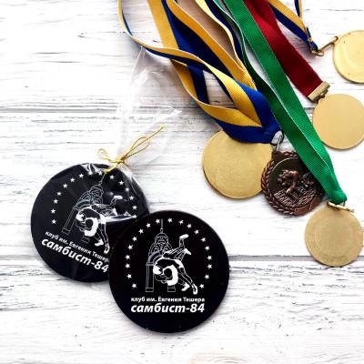 Шоколадные медали 80х80мм. Оригинальные корпоративные подарки